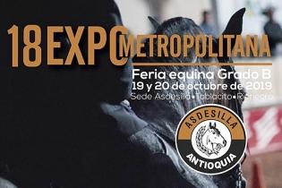 18° Expometropolitana, Expometropolitana, Feria Equina grado B, feria equina en Rionegro, caballistas, criadores de caballo, Caballo Criollo Colombiano