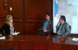 Cecilia Álvarez Correa, ministra de Transporte, Fernando Flórez, alcalde de Tunja y Carlos Amaya, representante a la Cámara. Foto: Alcaldía de Tunja.