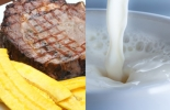 Consumo de leche y carne