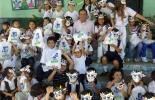 Los niños participaron en concursos de pintura donde se destacaron las propiedades nutricionales de la leche.