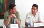 Juan Carlos Pinzón, ministro de Defensa y Octaviano Rivera, gobernador del Guaviare