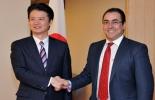 Koichiro Gemba, canciller de Japón y Sergio Díaz-Granados, ministro de Comercio.