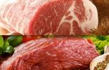 Carne de cerdo y res