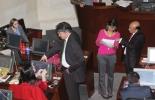 El ministro de Hacienda, Mauricio Cárdenas, durante una plenaria en el Senado