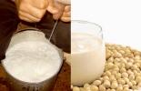 Leche de vaca contra leche de soya