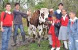 Niños ganaderos.
