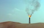 Un pozo de gas en Sailiya, a 40 km de Doha, el 19 de noviembre pasado.  © AFP Karim Sahib
