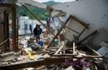 Una casa afectada por un ataque de las FARC contra una comisaría en Suárez, Colombia, perpetrado el lunes  © AFP Luis Robayo