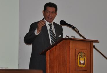 José Félix Lafaurie, durante su ponencia en el Congreso de la República