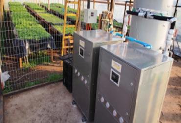 Invernadero climatizado con energías renovables
