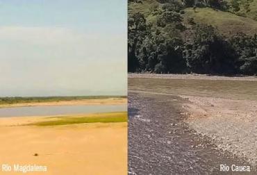 ríos, sequía, Magdalena, Cauca
