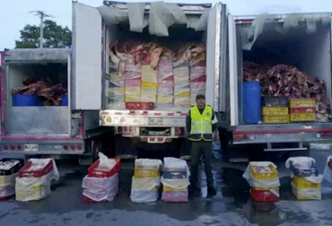 incautación de carne, incautación de carne en Casanare, Carne de contrabando, contrabandista de carne, Polfa, ganaderos Csanare