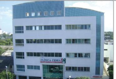 Fotografía de la Clínica Cedes, en Riohacha