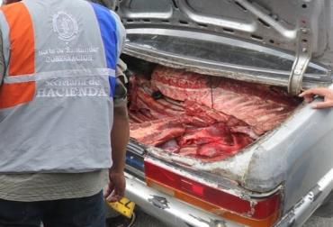 Carne incautada