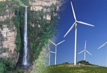 Parque eólico en Mesa de los Santos