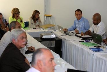 Reunión ministra de Transporte.