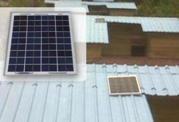 Panales solares en vivienda rural