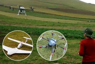 drones en la ganadería de leche