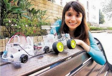 Vanessa Restrepo llamó a su invento el 'carro del futuro'