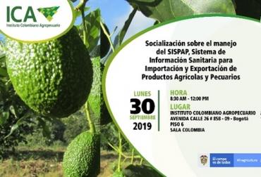 ICA, jornadas sobre aplicativo SISPAP, Sistema de Información Sanitaria para la Importación y Exportación de Productos Agrícolas y Pecuarios, importación, exportación, CONtexto ganadero, economía