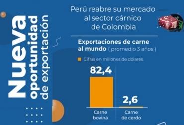 exportaciones de carne, carne bovina, carne porcina, Perú, restricción temporal a las exportaciones de carne colombiana, carne bovina y porcina colombiana, MINCIT, SENASA, ganaderia, noticias ganaderas colombiana, contextogandero