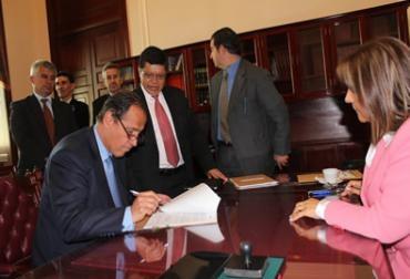 Juan Camilo Restrepo, Ministro de Agricultura.