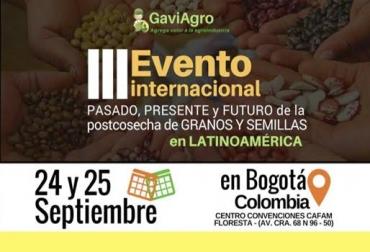 Granos y semillas, encuentro internacional, soluciones ecológicas en control de plagas, estabilización de harinas, optimización de plantas de acopio, calidad de granos y semillas, CONtexto Ganadero, noticias de ganadería colombiana.