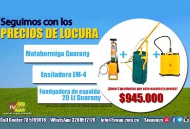 Combo Guadaña Bomba de espalda TVGAN mayo 2017, promoción TVGAN mayo 2017, promoción equipos de finca TVGAN mayo 2017, arreglo de la finca, arreglar la finca, elementos para arreglar la finca, limpieza de potreros, CONtexto ganadero, ganaderos Colombia