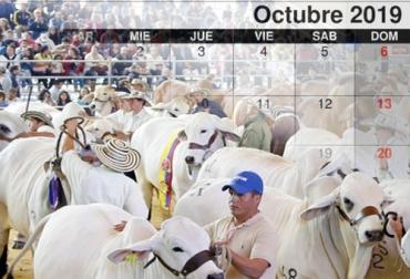 eventos ganaderos de octubre, ferias ganaderas en octubre, giras técnicas ganaderas en octubre, Expoflorencia 2019, días de campo en octubre