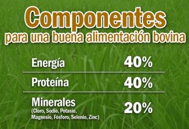 componentes nutricionales para el ganado