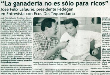 Entrevista Ecos del Tequendama Lafaurie