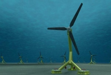 Parque eólico bajo el mar