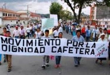 Paros campesinos en Colombia.