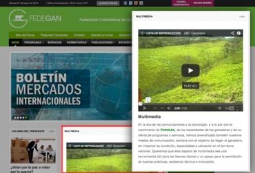 Porta web de Fedegán