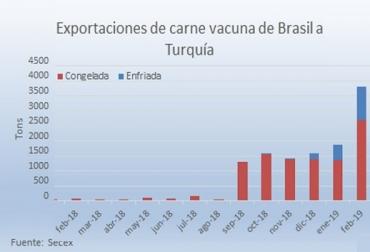 Brasil, Turquia, Turquía redujo a cero el arancel a la importación de la carne vacuna, En febrero Turquía fue el segundo principal destino para la carne enfriada exportada por Brasil con 1.120 toneladas, Novillos pesado, CONtexto ganadero, noticias ganaderas, bovinos