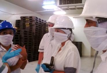 visita de rusos a frigoríficos Montería