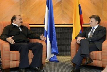 """Juan Manuel Santos, valoró como positivo el encuentro y aseguró que continuará fortaleciendo """"canales de comunicación"""" con el Gobierno de Nicaragua"""