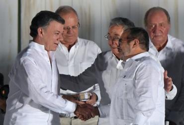 paz santos farc colombia