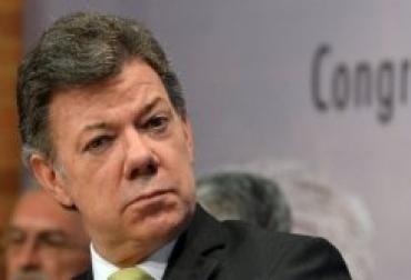 Fotografía del presidente de Colombia, Juan Manuel Santos  © AFP Javier Casella